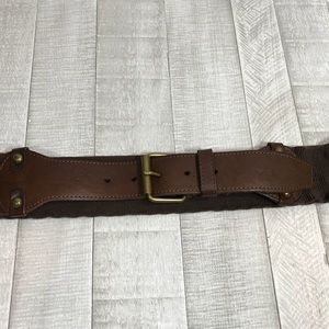 Talbots Brown Stretch Belt